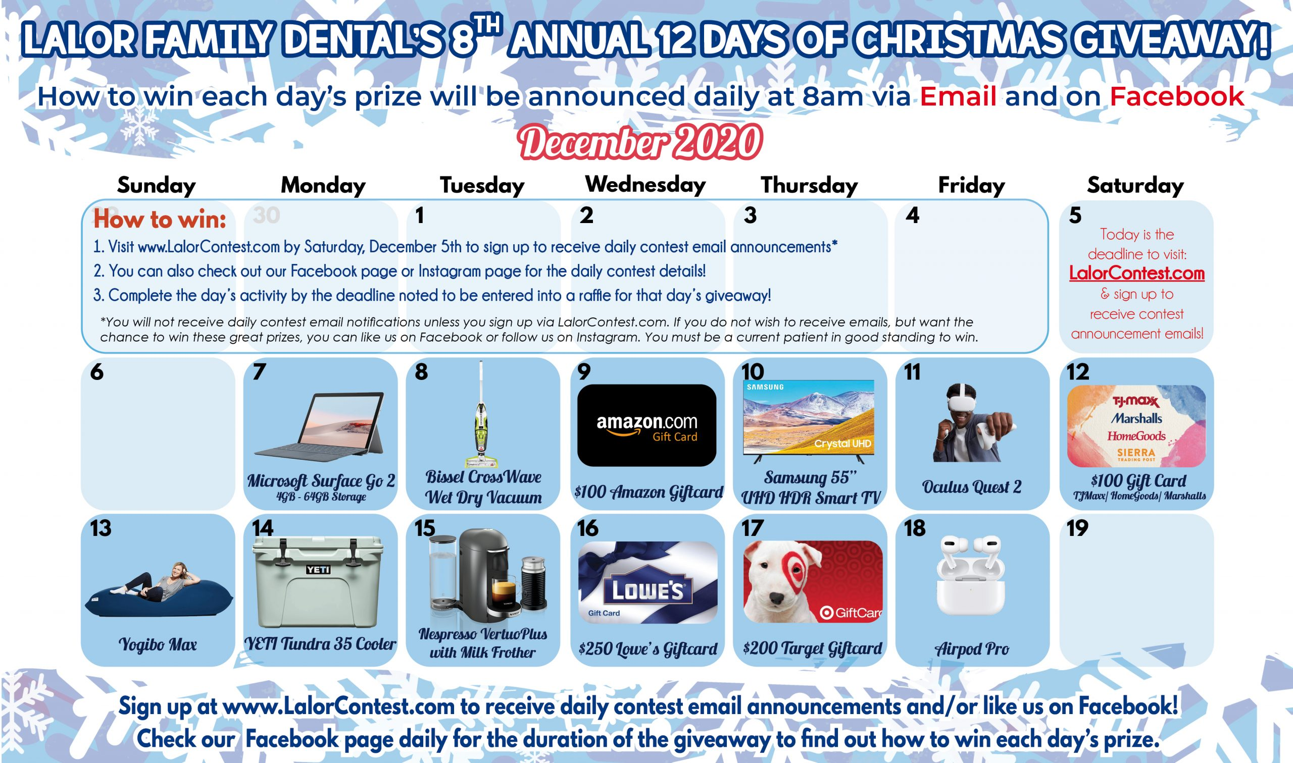 12 Days of Christmas - 2020 - Prizes - LFD General