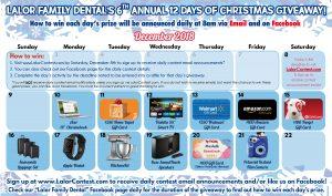 12 Days of Christmas Calendar LFD 300x177 - 12 Days of Christmas - Calendar - LFD