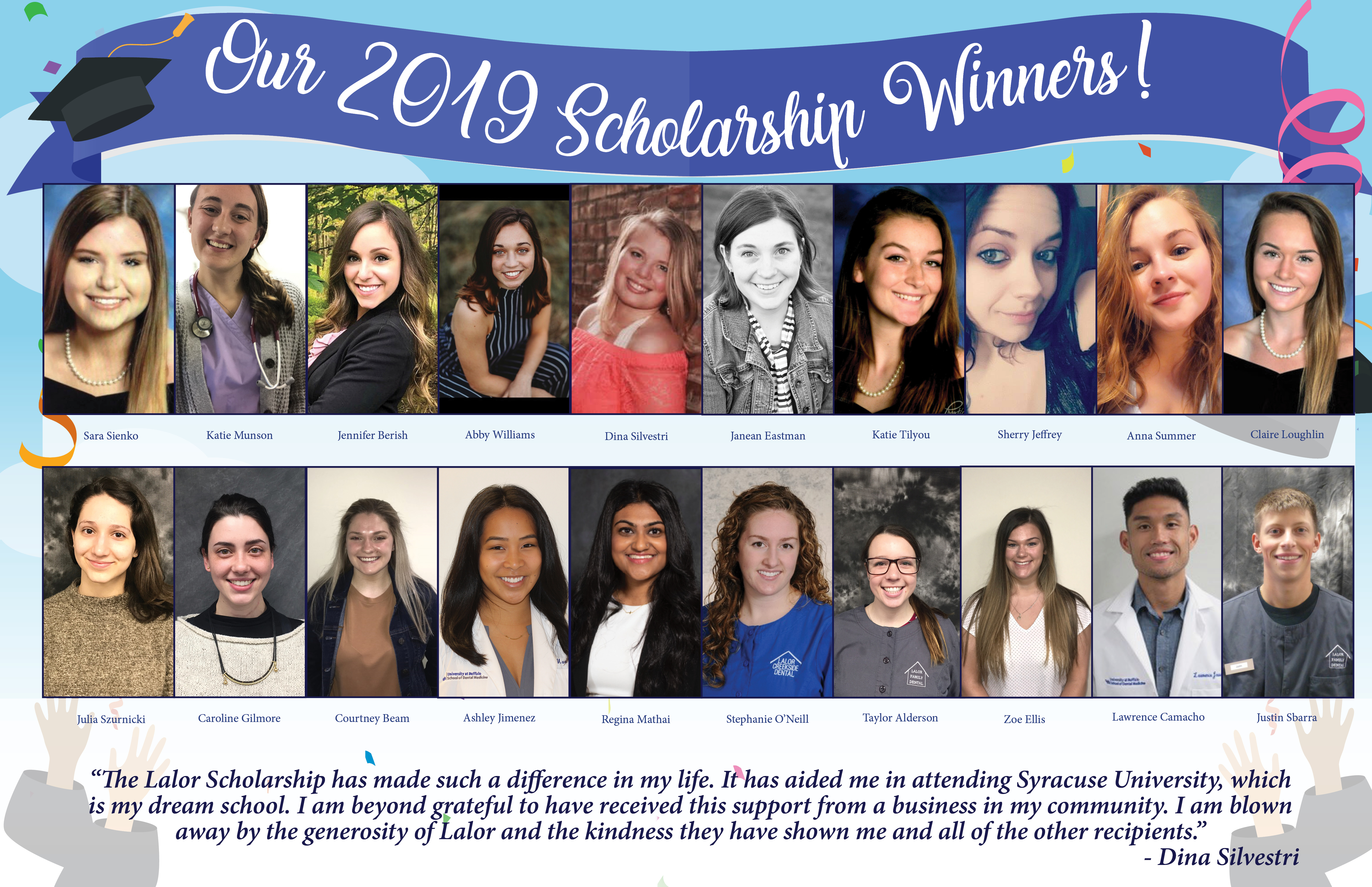 2019 Scholarship Lalor Impact Sign2 - Fun Patient Events