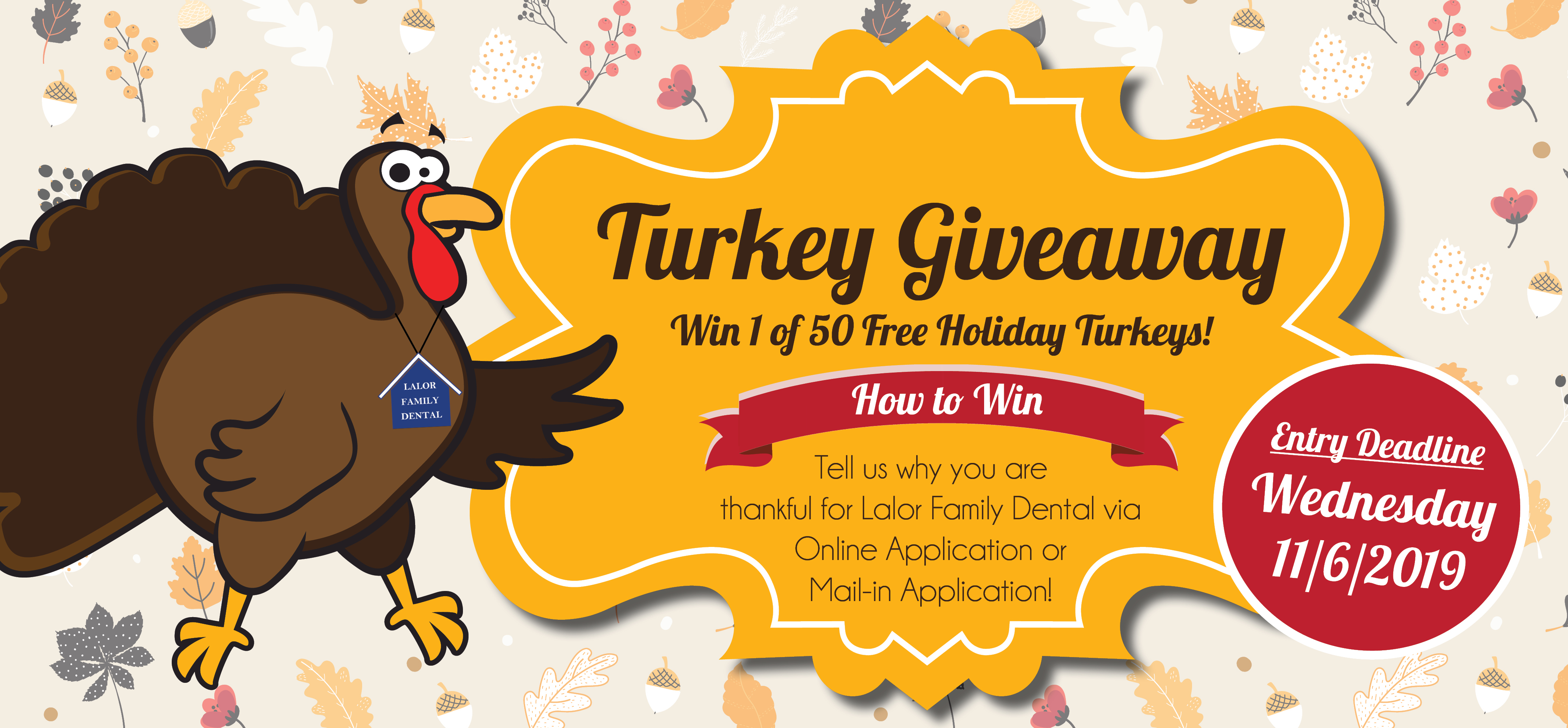 Turkey Giveaway Email - Fun Patient Events